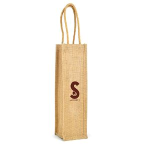 Bordeaux Jute Wine Bag