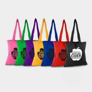Coloured Cotton Shopper Bags