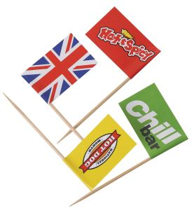 Party Pick Food Flags