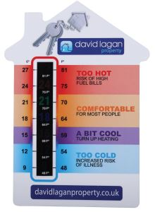 House Shaped Temperature Gauge Card