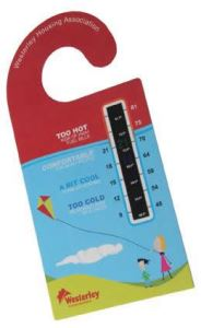 Door Hanger Temperature Gauge