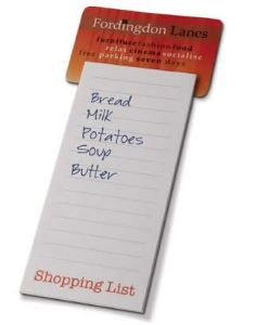 Magnet with Shopping list Pad