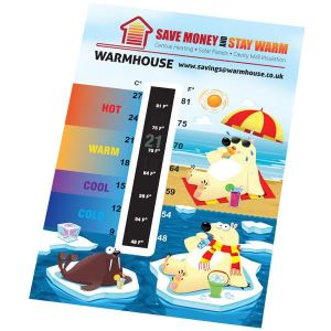 125x85mm Thermometer Cards